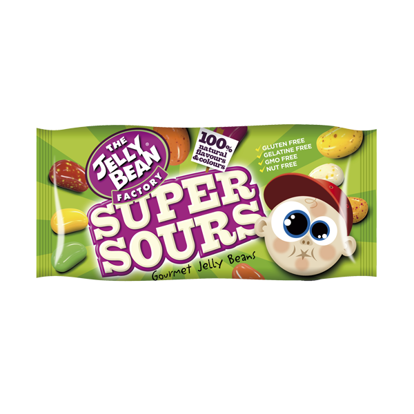 The Jelly Bean Factory Super Sours Beutel 50g