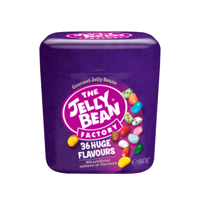 The Jelly Bean Factory 36 Gourmet  Flavours Cup 80g